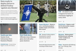 Welcome to the Guardian's international homepage | Media