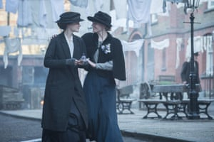 Carey Mulligan (Maud) and Anne-Marie Duff (Violet) in Suffragette.