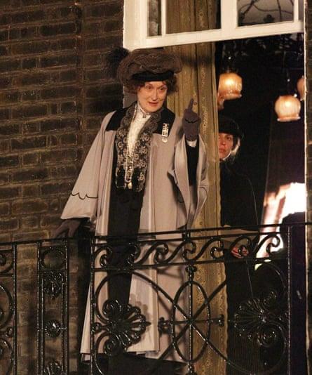 Meryl Streep playing Emmeline Pankhurst in