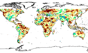 drought map august 2015 global