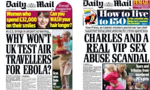 The Daily Mail featured The Great British Bake Off winner on the front page in 2014 (left) – but not this year