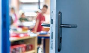 Open classroom door.