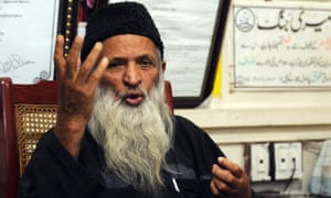 Abdul Sattar Edhi, who runs Pakistan's largest charity the Edhi Foundation, speaks at his office in Karachi.
