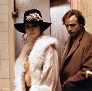 Maria Schneider with Marlon Brando in Last Tango in Paris.