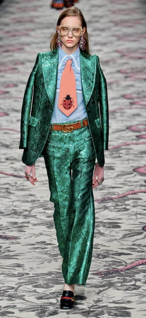 Gucci does the 1970s at Milan Fashion Week.