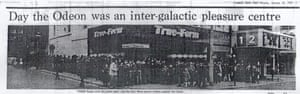 A cutting from the Liverpool Daily Post about the Star Wars premiere in Liverpool