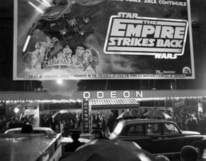 <em>The Empire Strikes Back</em> film premiere at the Odeon Leicester Square, London, 20 May 1980.