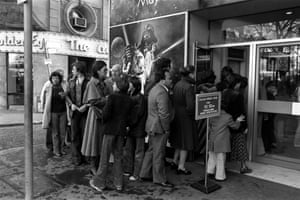 The queue for Star Wars at the Leicester Square Theatre on the day of release