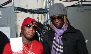 Young Thug and Cash Money label boss, Birdman in New York.