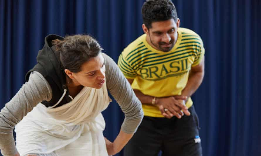 Coming Up Rehearsals - (left to right) Clara Indrani, Mitesh Soni.