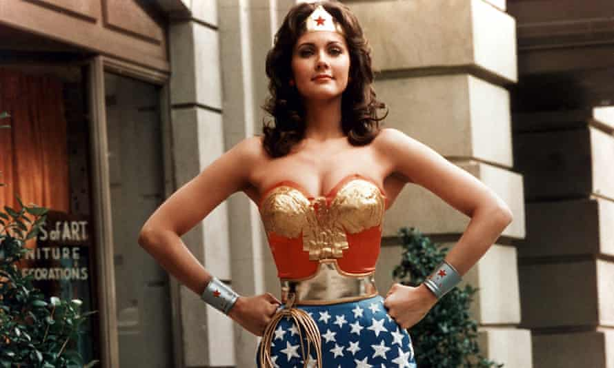 WONDER WOMAN Lynda Carter in the US TV series which ran from 1975 to 1979
