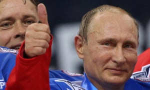 Vladimir Putin plays ice hockey on his 63rd birthday on 7 October.