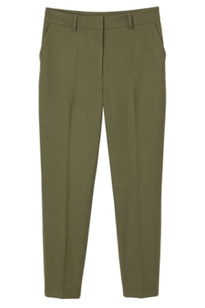 Five autumn trousers – khaki tailored cropped by Monki