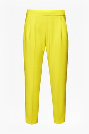Five autumn trousers – bright yellow tailored trousers by French Connection