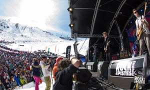 Babyshambles at last year's Rock the Pistes festival.