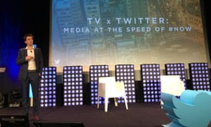 Twitter's Dan Biddle presenting at the Mipcom conference in Cannes