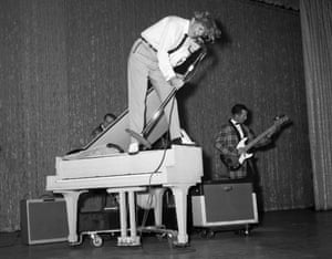 Jerry Lee Lewis in New York 1958. Scandal? Controversy? Where do you start?
