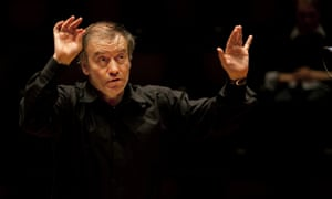 Gergiev conducting the London Symphony Orchestra at the Barbican in London.