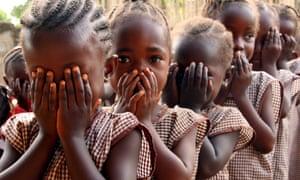 Schoolgirls in Sierra Leone.