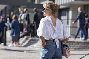 A back-to-front shirt at London Fashion Week.