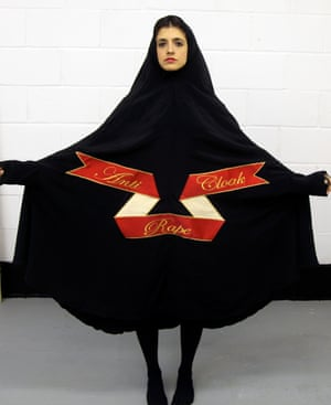 MsMapes in her Anti Rape Cloak.