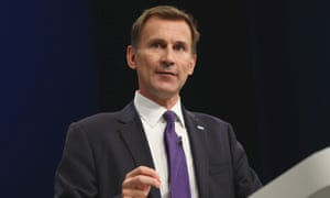 Hunt's self-respect is great enough for him to believe that he is the best possible ­person to be lecturing the less fortunate on their character … health secretary Jeremy Hunt.
