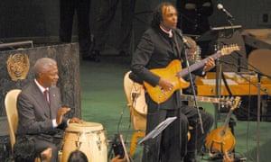 Gilberto Gil and Kofi Annan