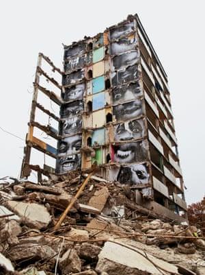 Destruction #2, Les Bosquets, Montfermeil, 2013 by JR