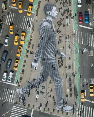 Elmar, Flatiron Plaza, New York, 2015 JR street artist