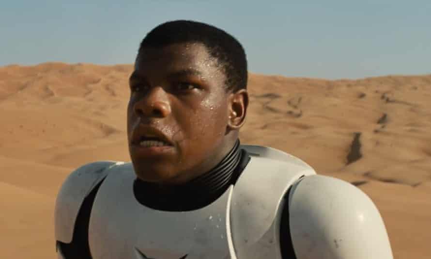John Boyega in Star War: The Force Awakens.