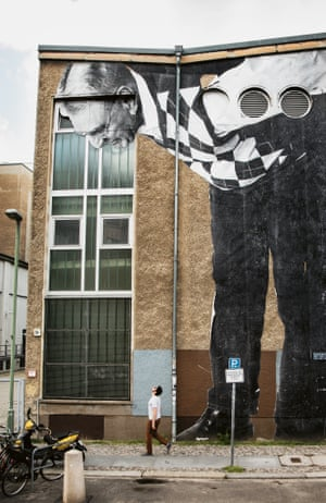 Dr Shihab Ahmed, Augustrasse, Berlin, Germany, 2013 by JR