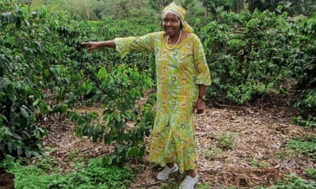 Fatima welcomes visitors to her coffee plantation on Mount Meu, Tanzania
