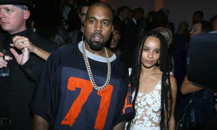 Kanye West with Zoe Kravitz earlier this month.