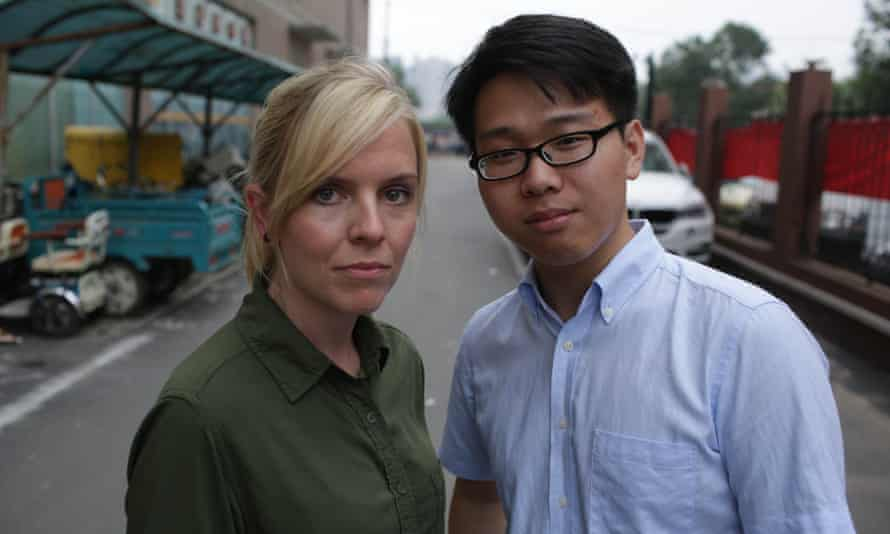 Reporter Shaunagh Connaire and gay rights activist John Shen in Unreported World.