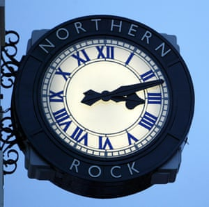 Time's up ... the Northern Rock clock in Newcastle.