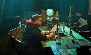 Guillermo del Toro on set of Crimson Peak.
