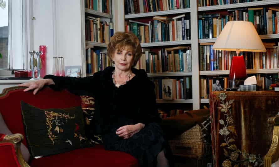 Edna O;Brien at her home in Knightsbridge, London.