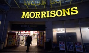 Morrisons shares fall.