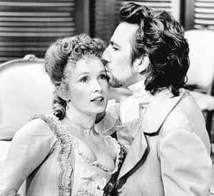 Lindsay Duncan and Alan Rickman in the RSC production of Les Liaisons Dangereuses.