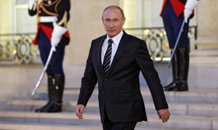 Russian president Vladimir Putin in Paris.