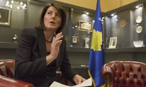 Kosovo President Atifete Jahjaga referred the measures empowering Serbian communities to the country's constitutional court.