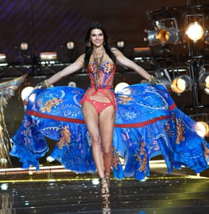 Model Kendall Jenner on the 2015 Victoria's Secret Fashion Show.