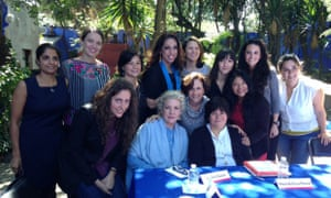 Guests at the 'Mexico City for women' discussion at the Frida Kahlo Museum
