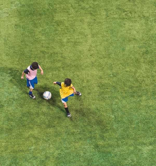 Young boys train at the Aspire academy