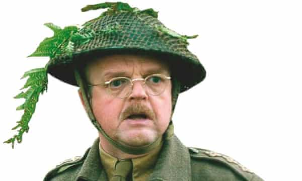 Photograph of Toby Jones as Captain Mainwaring in the new Dad's Army film.