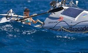 Roz Savage rowing Atlantic ocean
