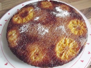 Caramel clementine upside-down cake