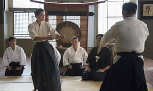 Alexa Davalos working on her aikido.