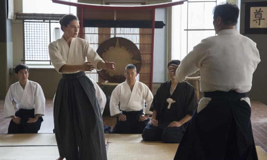 Alexa Davalos working on her aikido.
