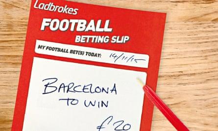 Betting slip (created image)